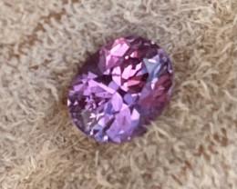 1.21 ct sapphire certified unheated.  Vivid purplish pink