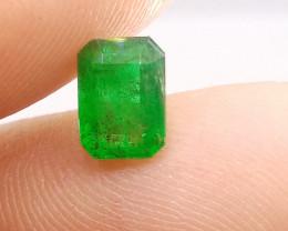 1.46cts  Vivid Zambian Emerald , 100% Natural Gemstone