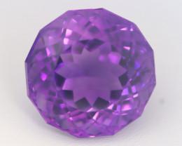 Amethyst 64.50Ct Precision Cut Uruguay Vivid Purple Amethyst B1507