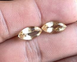 Citrine Gemstone Pair 100% Natural Gemstone VA5729