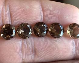 Smoky Quartz Wholesale Caliberated Parcel Natural+Untreated Gemstones VA574