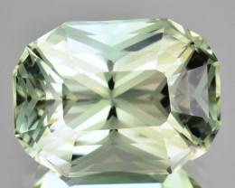 ~CUSTOM CUT~ 8.22 Cts Natural Green Prasiolite / Amethyst Cushion Fancy Br