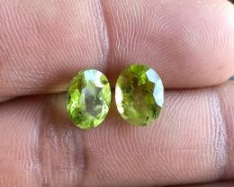 Peridot Pair 100% Natural+Untreated Gemstones VA5752