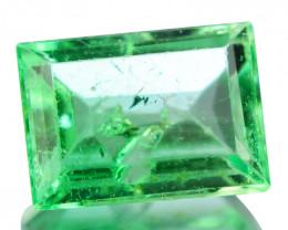 Natural Vivid Green Emerald Baguette Cut Colombia 0.23 Cts