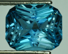 7.86Cts Beautiful Natural London Blue Topaz Custom Cut