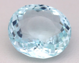 Aquamarine 8.21Ct VVS Oval Cut Natural Santa Maria Aquamarine B1514