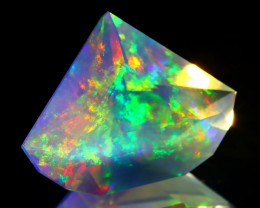 6.58Ct ContraLuz Rainbow Flash Mexican Very Rare Species Opal C1612