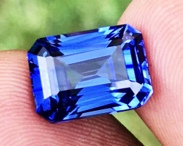 6.49 CT SAPPHIRE VIVID BLUE 100% CLEAN NATURAL ONLY HEATED SRI LANKA