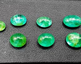 Emerald, 13.50 Carats Oval Natural Zambian Emerald Cabochon