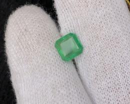1.80 CT Natural Emerald Ascher Cut