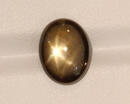 5.25 CTS NATURAL BLACK SIX LINE STAR SAPPHIRE UNHEATED GENUINE CABS