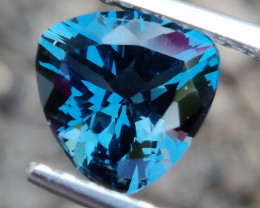 3.65 CTS~EXCELLENT TRILLON CUT LONDON BLUE NATURAL TOPAZ NR!!