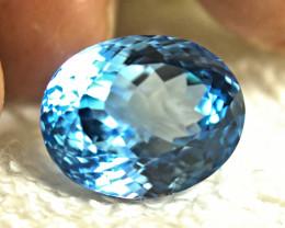 30.52 Carat VVS Brazilian Blue Topaz - Gorgeous