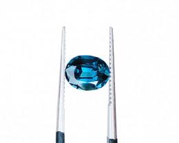 1.55 Carats Natural Blue Tourmaline Cut Stone