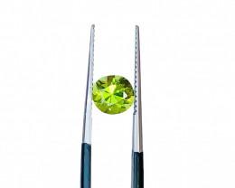 1.45 Carats Natural Green Tourmaline Round Cut Stone