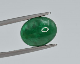 Natural Emerald 4.38 Cts Top Quality Cabochon from Zambia
