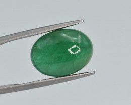 Natural Emerald 8.44 Cts Top Quality Cabochon from Zambia