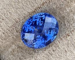 7.31 ct Ceylon sapphire certified unheated.