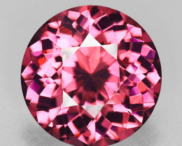 Flawless, high gem custom precision round cut natural spinel.