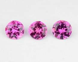Tourmaline 0.32 Cts 3 Pcs Natural Pink Loose Gemstone