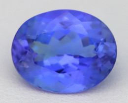 Tanzanite 2.93Ct VVS Oval Cut Natural Vivid Blue Tanzanite A1704