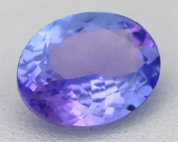 Tanzanite 1.82Ct VVS Oval Cut Natural Vivid Purplish Tanzanite A1705