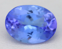 Tanzanite 1.80Ct VVS Oval Cut Natural Vivid Blue Tanzanite A1710