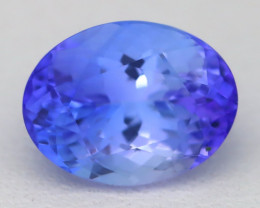 Tanzanite 2.42Ct VVS Oval Cut Natural Vivid Blue Tanzanite A1720