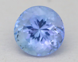 Tanzanite 1.40Ct VVS Round Cut Natural Purplish Blue Tanzanite A1721