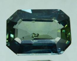 ~UNHEATED~ 0.97 Cts Natural Sapphire  Greenis Blue Emerald Cut Australia