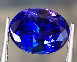 3.74ct Vivid Blue Tanzanite With Excellent Luster And Fine Cutting  Gemston