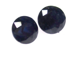 0.90tcw Natural Australian Blue Sapphire Matching Round Brilliant Cut