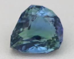 3.53Ct VVS Fancy Pear Cut Natural BiColor Peacock Tanzanite B1806