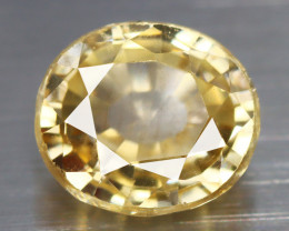 2.150 CT ZIRCON PESTAL YELLOW 100% CLEAN NATURAL UNHEATED SRI LANKA