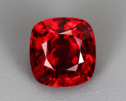 2.635 CT SPINEL BLOOD RED 100% NATURAL UNHEATED MINE BURMESE