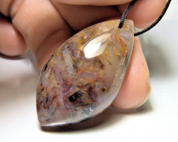 50.0 Carat Drilled Agate Pendant Stone - Gorgeous