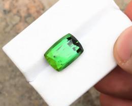 7.50 Ct Natural Green Transparent Tourmaline TOP Color Gemstone