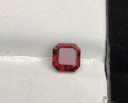 Loupe Clean 2.15 cts Fancy Cut Garnet Natural Dark Color Ring Size