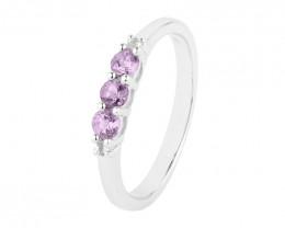 Amethyst 925 Sterling silver ring #36719