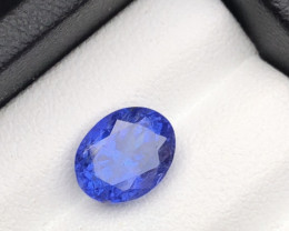 Dazzling Color 2.55 cts Natural Tanzanite Tanzanite Tanzanite Ring Size