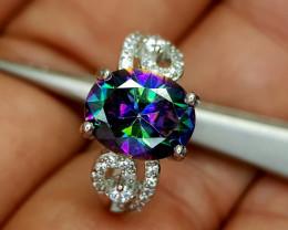 21Crt Mystic Quartz 925 Silver 6 Natural Gemstones JI20