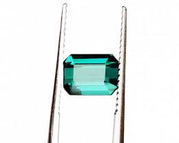2.05 Carats Natural Greenish Blue Tourmaline Cut Stone