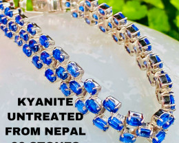 KYANITE- MEGA BRACELET - KYANITE - NEPAL-  NATURAL , UNTREATED