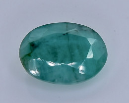 3.44 Crt Natural Emerald Faceted Gemstone.( AB 15)