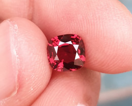 UNTREATED 1.24 CTS NATURAL STUNNING ORANGY RED SPINEL FROM BURMA