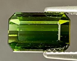 3.82ct VVS Octagon Green Tourmaline - UNTREATED 10.0 x 6.5mm