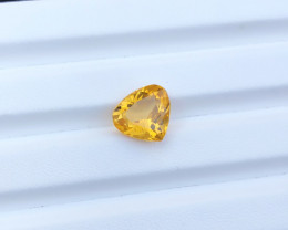 6.35 carats Heart shape Citrine Gemstones