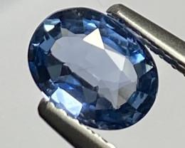 1.11ct VS Blue Sapphire -  Heated  7.2 x 5.5 mm