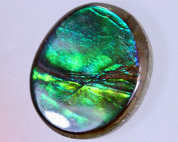 14x12mm,  6.31cts Natural Canadian Ammolite Stone / MA1728