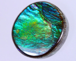 12x11mm,  6.57cts Natural Canadian Ammolite Stone / MA1730